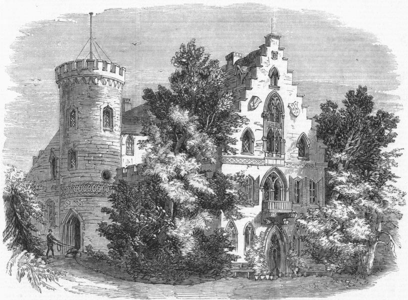 Associate Product GERMANY. Rosenau Castle-birthplace of HRH Albert , antique print, 1858