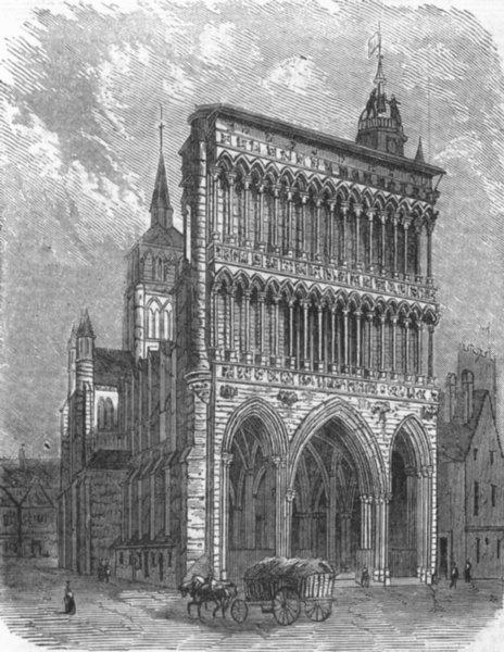 Associate Product FRANCE. Notre Dame, at Dijon, antique print, 1859