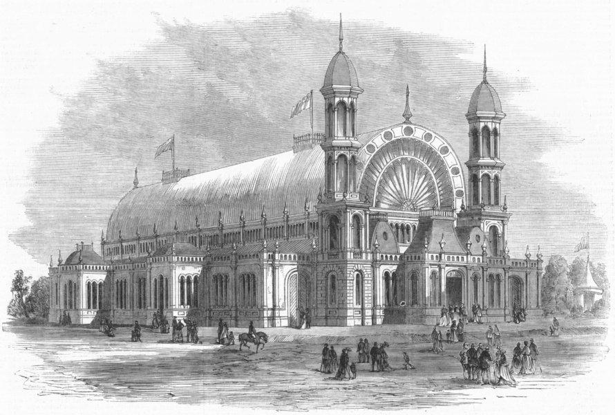 Associate Product SYDNEY. NSW & Victoria exhibition, Alfred Park, antique print, 1870