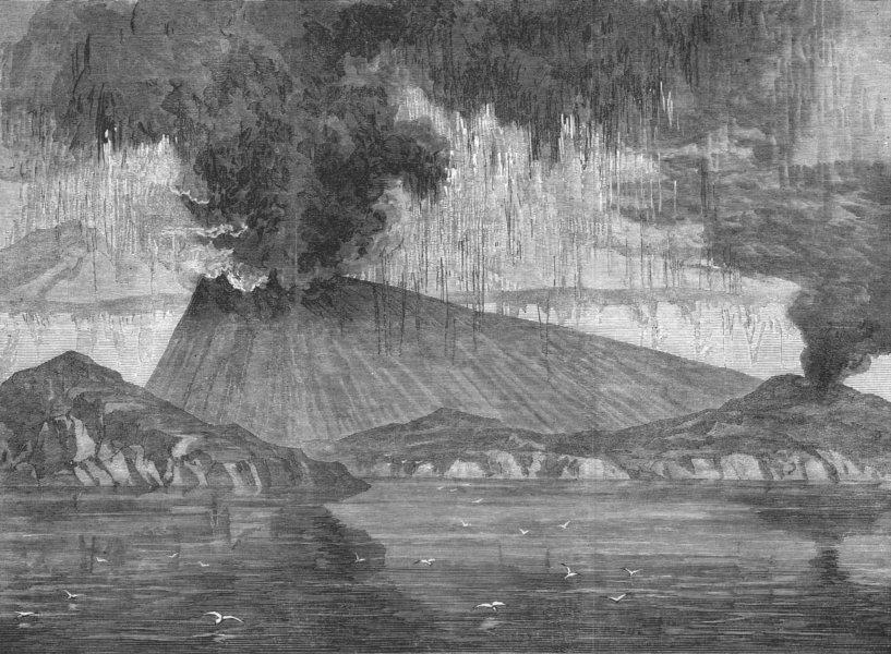 Associate Product GREECE. The crater of Santorini, antique print, 1870