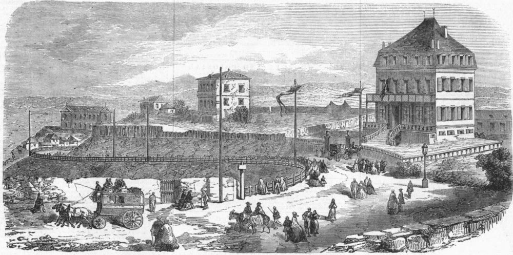 Associate Product BELGIUM. House occupied, King of Belgians, Biarritz, antique print, 1859
