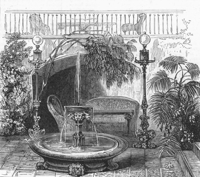 Associate Product ST PETERSBURG. Divan, Duke Edinburgh, Winter palace, antique print, 1874