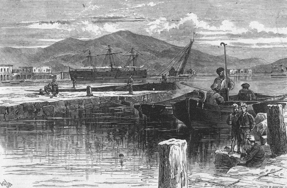Associate Product SPAIN. the harbour of Cartagena, antique print, 1873
