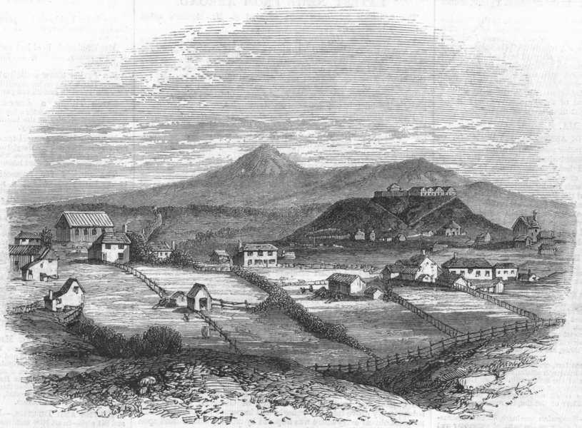 Associate Product NEW ZEALAND. Taranaki(Plymouth)North Island, antique print, 1860