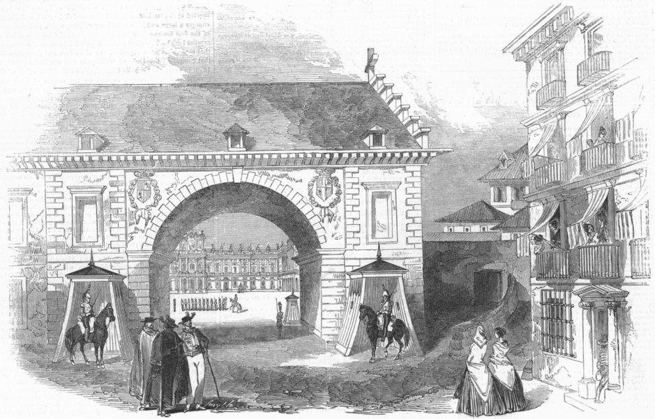 Associate Product SPAIN. Royal Palace, Madrid-Armeria, antique print, 1845