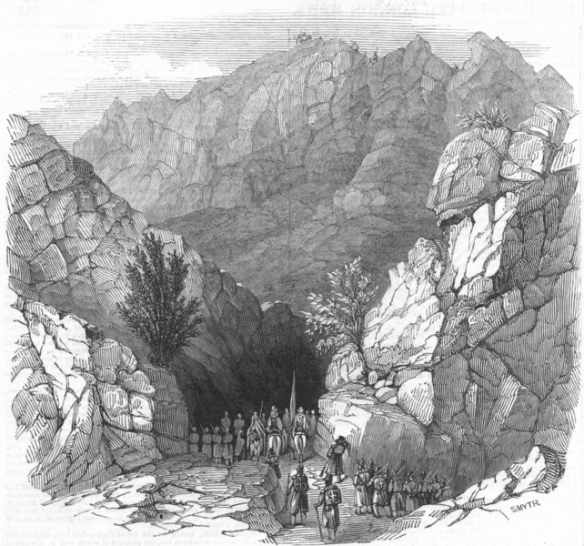 Associate Product ALGERIA. Passage of Iron gates, antique print, 1845