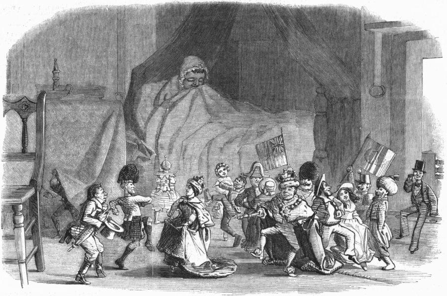 Associate Product CHILDREN. Child's dream of 12th night, antique print, 1854