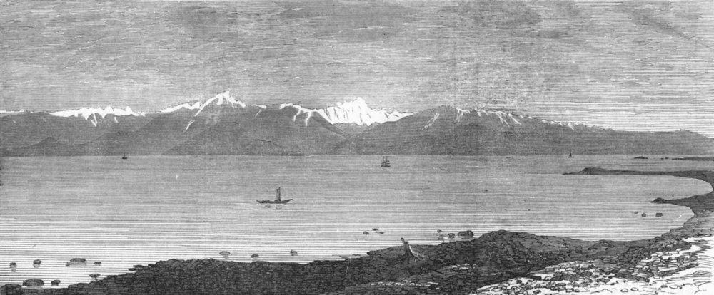 Associate Product WASHINGTON. Strait of Fuca, Mount Olympus, North America, antique print, 1872