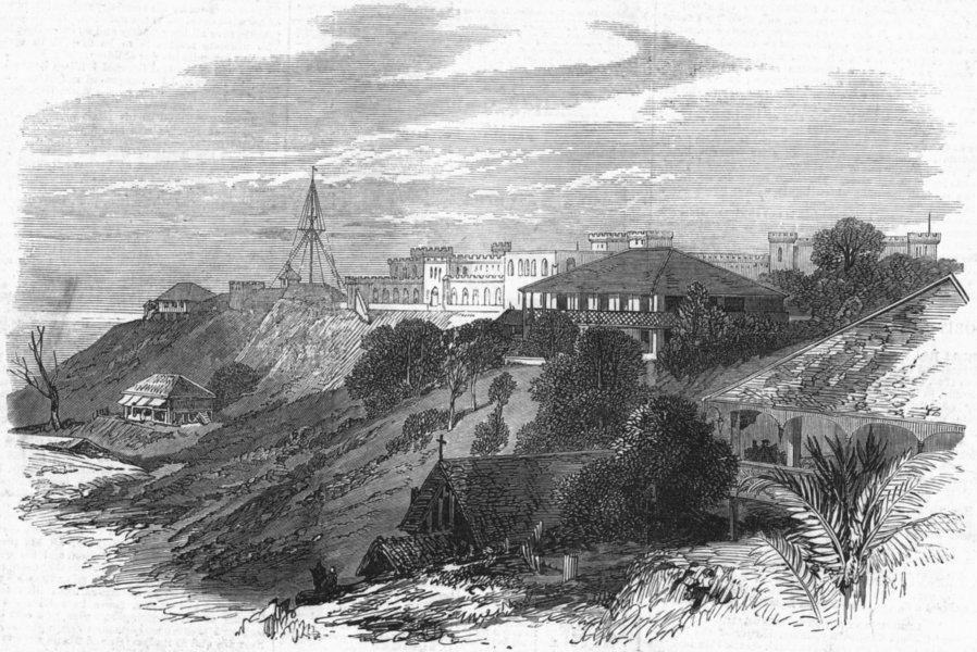 Associate Product ROSS ISLAND. Andaman Islands. HQ of penal village, antique print, 1872