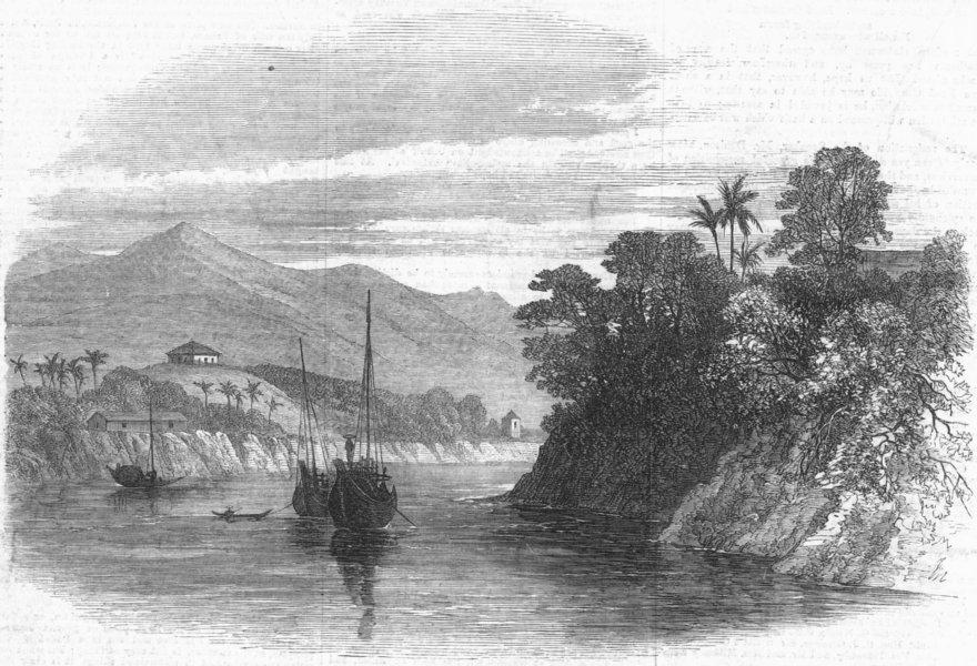 Associate Product INDIA. Lushai expedition. Fort & tea Gdns, Cachar, antique print, 1872