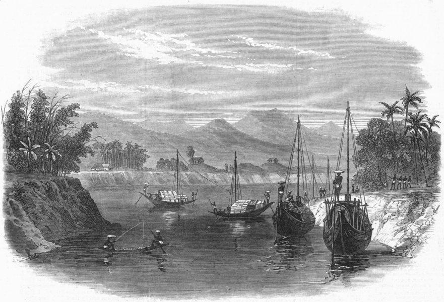 Associate Product INDIA. Lushai Expedition. Barak River, Cachar, antique print, 1872