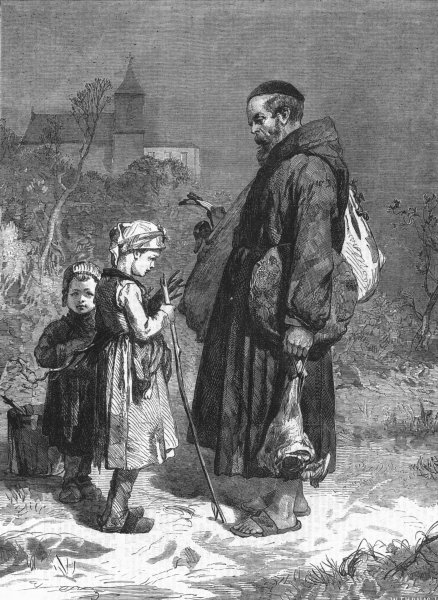 Associate Product CHILDREN. Too much and too little, antique print, 1863