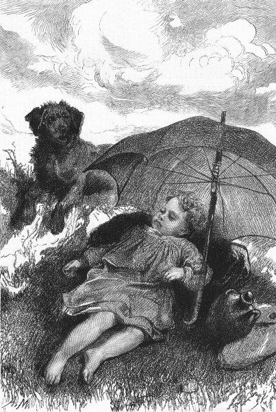 Associate Product CHILDREN. 4 seasons, Marie. Summer, antique print, 1877