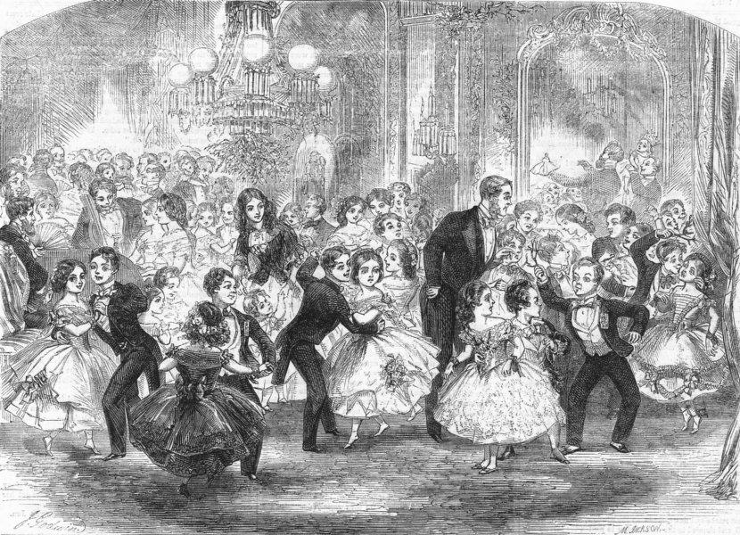 Associate Product CHILDREN. Last night of Mistletoe, antique print, 1859