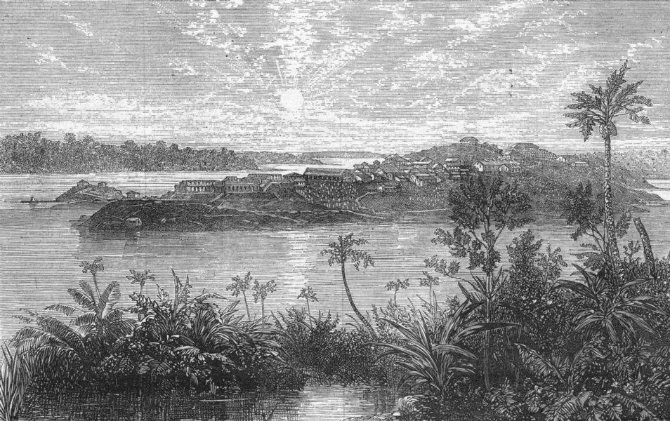 Associate Product INDIA. Viper Island, Andaman Islands, antique print, 1872