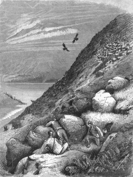 Associate Product ARGYLL. Deer stalk, Black Mount forest, Loch Ettive, antique print, 1891