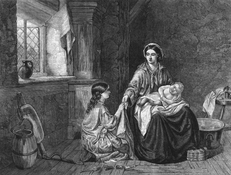 Associate Product FAMILIES. The Mother's Hope, antique print, 1859