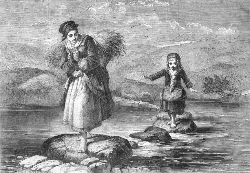 Associate Product CHILDREN. Come along, antique print, 1856