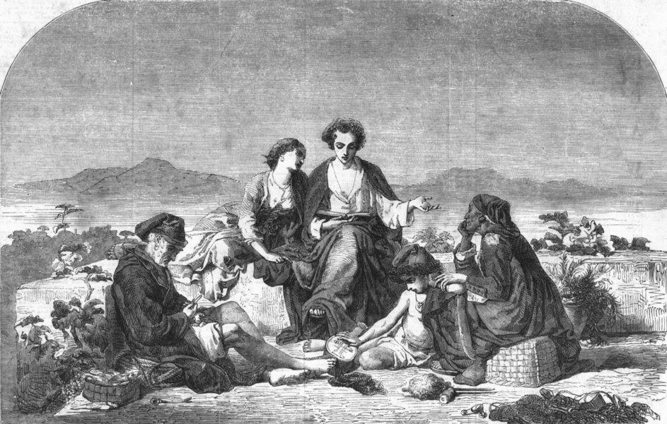 Associate Product PORTRAITS. Graziella, antique print, 1856