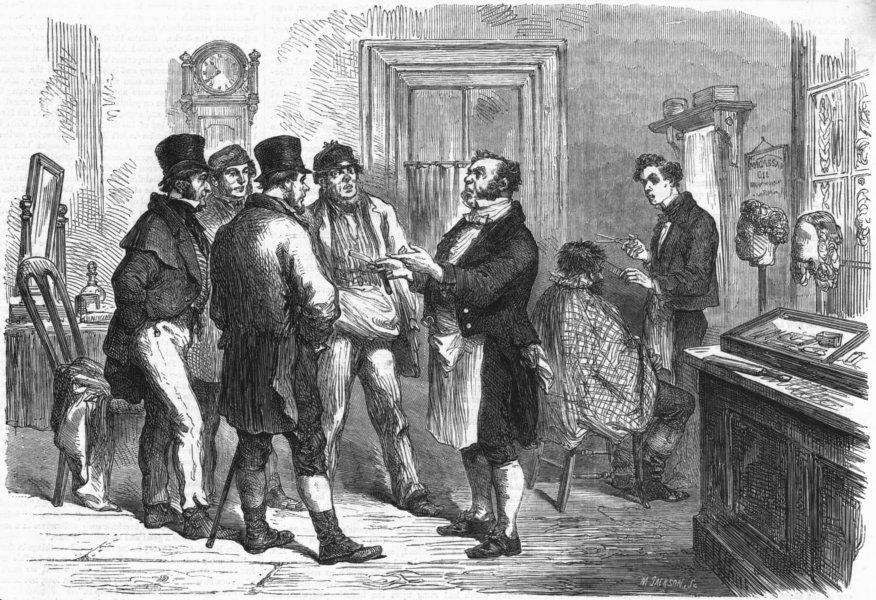 Associate Product PORTRAITS. barber Tetherham. Jacob Poppleton Blues, antique print, 1863