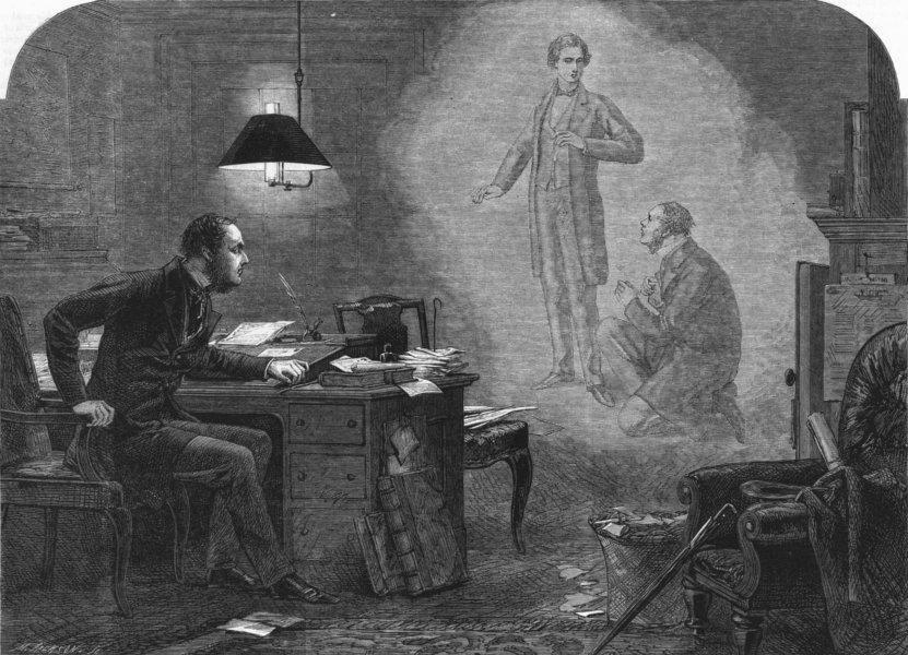 Associate Product FREEMAN'S PHANTOMS. Youth upbraiding sordid age, antique print, 1863