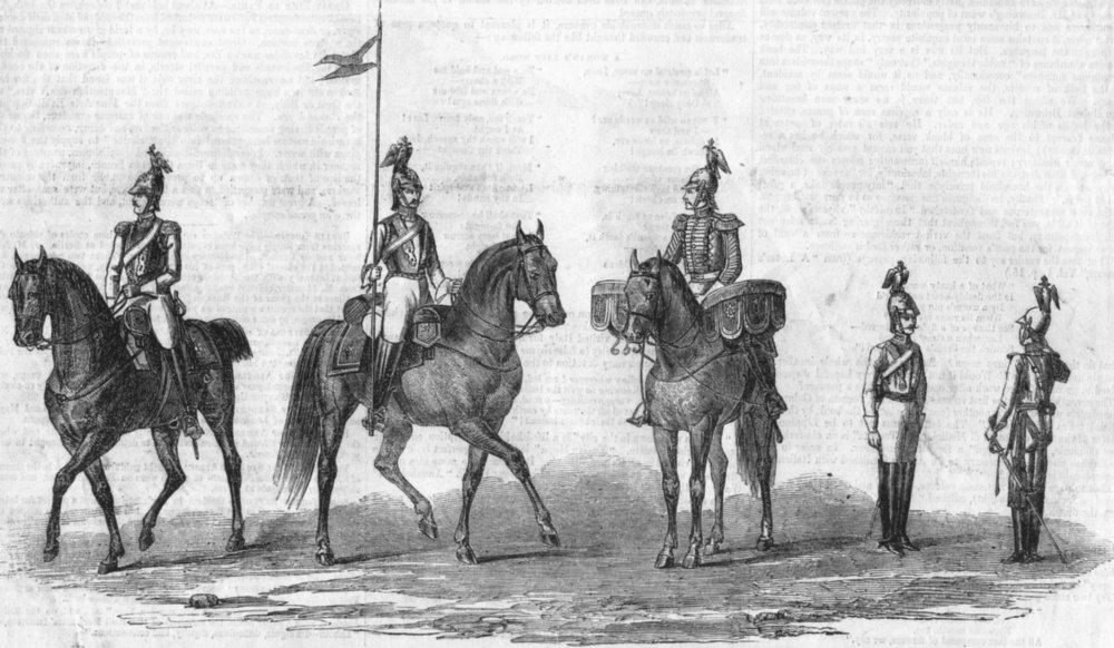 Associate Product RUSSIA. Chevalier life guards-regiment of Empress, antique print, 1855