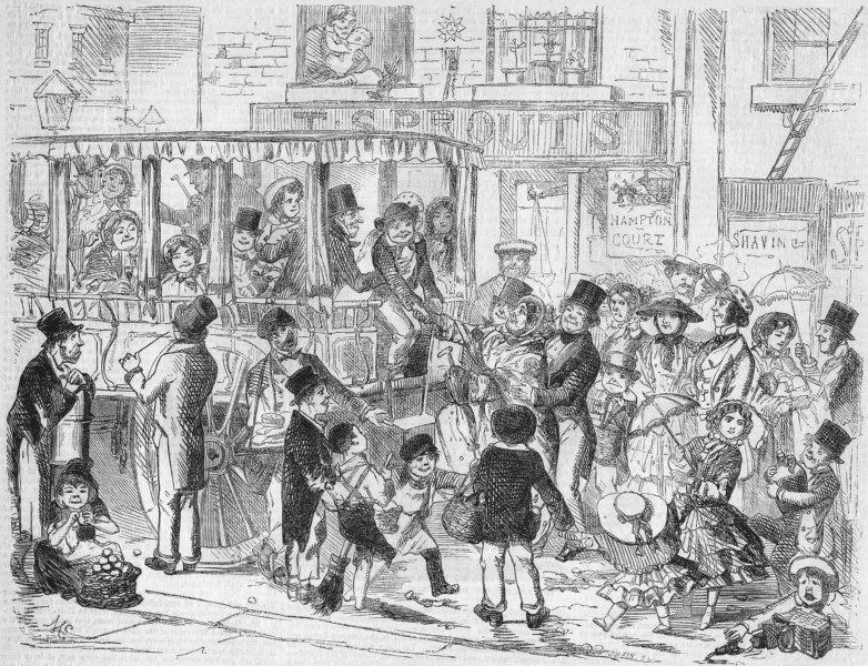 Associate Product HAMPTON Ct. St working-man's holiday-pleasure van, antique print, 1855
