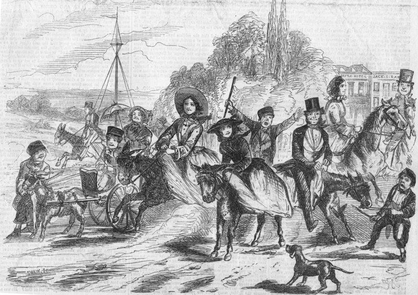 Associate Product LONDON. St, people's holiday-Hampstead Heath, antique print, 1856