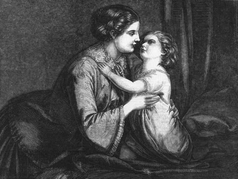 Associate Product CHILDREN. Good morning, mother, antique print, 1859