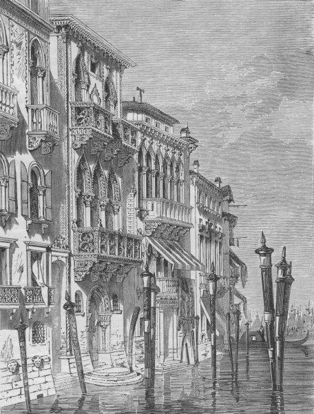 Associate Product VENICE. The Palace Ferro 1882 old antique vintage print picture