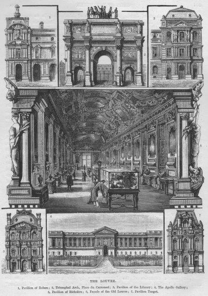 Associate Product PARIS LOUVRE. Carrousel Apollo Gallery Richelieu Turgot Rohan Pavilions 1882