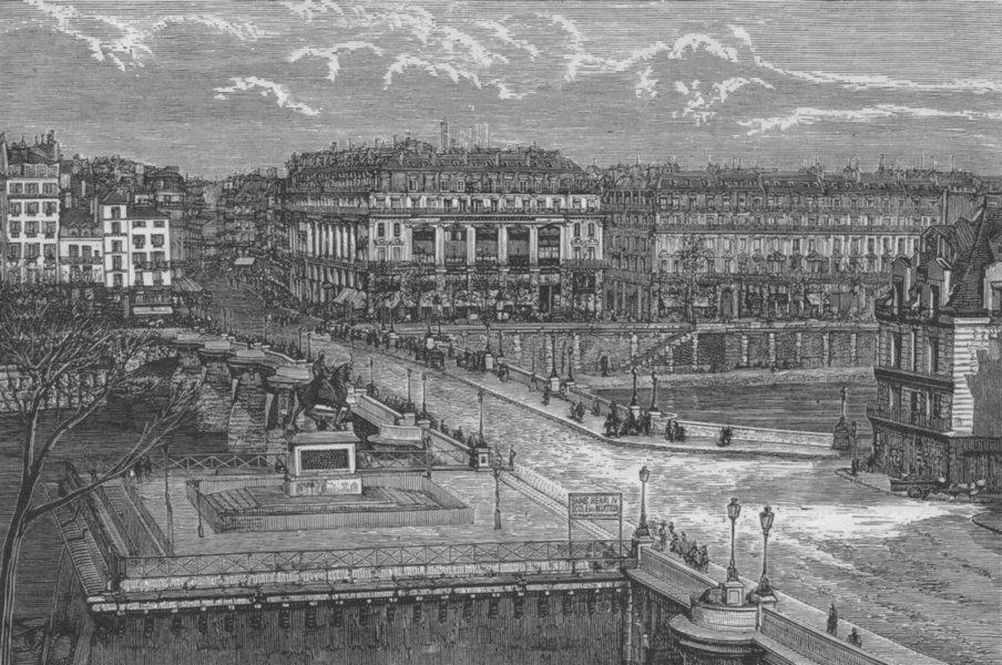 Associate Product PARIS. The Pont Neuf 1882 old antique vintage print picture