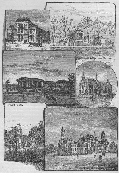 Associate Product PHILADELPHIA. Fine Art Academy/Nat. Sciences Penn University Girard College 1882