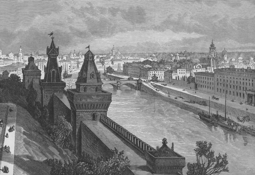 Associate Product MOSCOW. View of Moscow from the Kremlin 1882 old antique vintage print picture