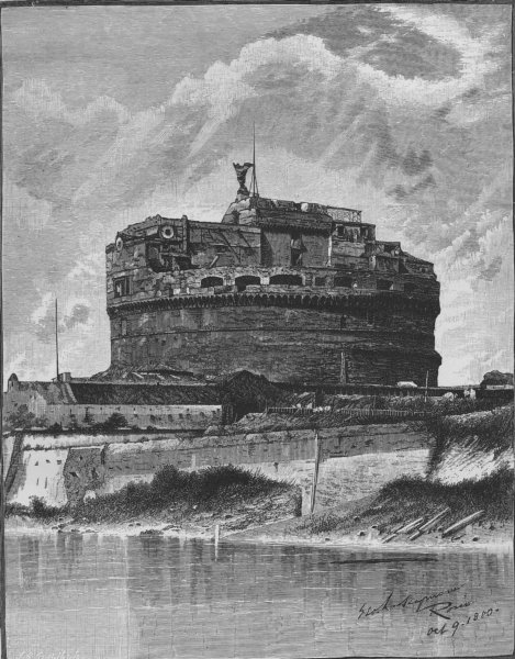 Associate Product ROME. The Castle of St Angelo 1882 old antique vintage print picture