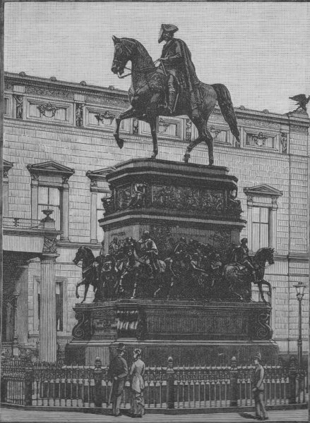 Associate Product BERLIN. Statue of Frederick the Great 1882 old antique vintage print picture