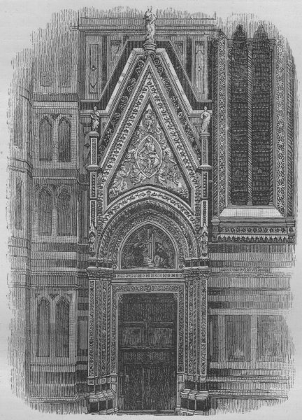 Associate Product FLORENCE. Side Door of the Duomo 1882 old antique vintage print picture