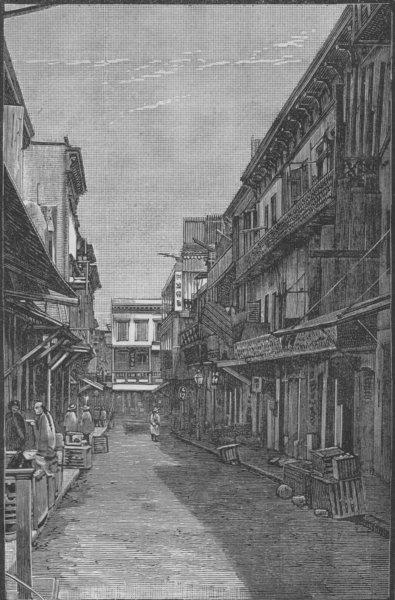 Associate Product SAN FRANCISCO. Washington Alley 1882 old antique vintage print picture