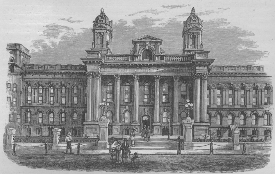 Associate Product SAN FRANCISCO. The City Hall 1882 old antique vintage print picture