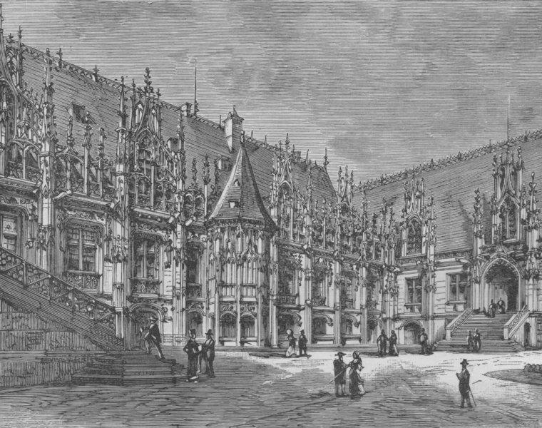 Associate Product ROUEN. The Palais de Justice 1882 old antique vintage print picture