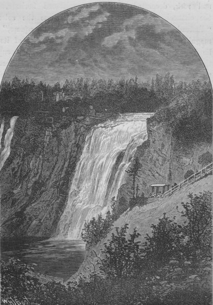 Associate Product QUEBEC CITY. The Falls of Montmorenci 1882 old antique vintage print picture