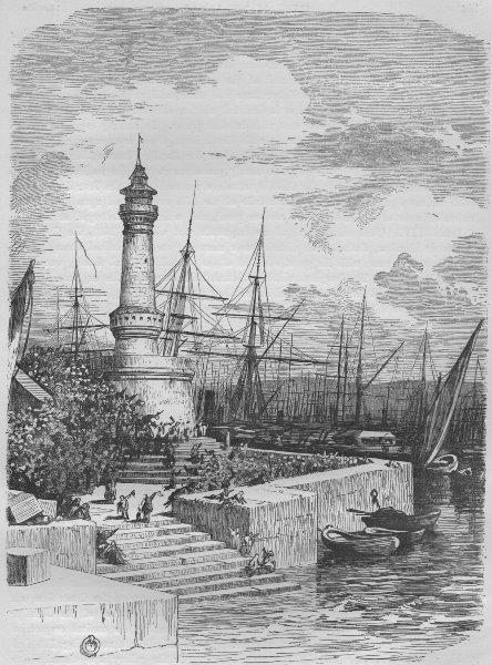 Associate Product MARSEILLES. The Harbour, Marseilles 1882 old antique vintage print picture