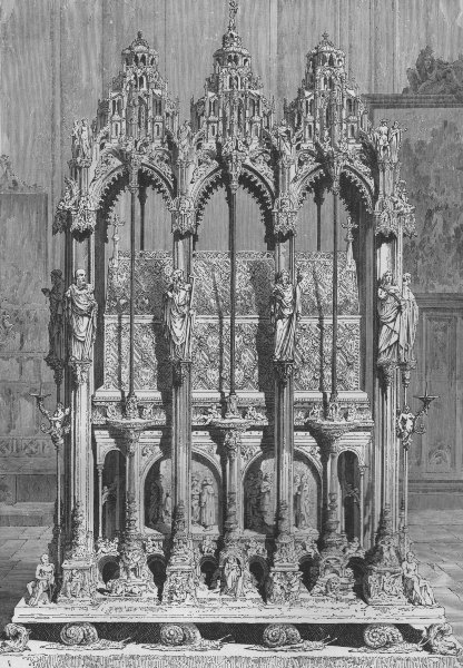 Associate Product NUREMBERG. Tomb of St Sebald, Nuremberg 1882 old antique vintage print picture