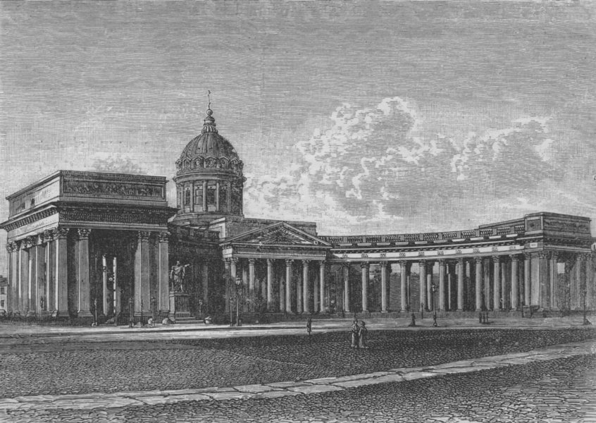 Associate Product ST PETERSBURG. The Cathedral of Our Lady of Kazan 1882 old antique print