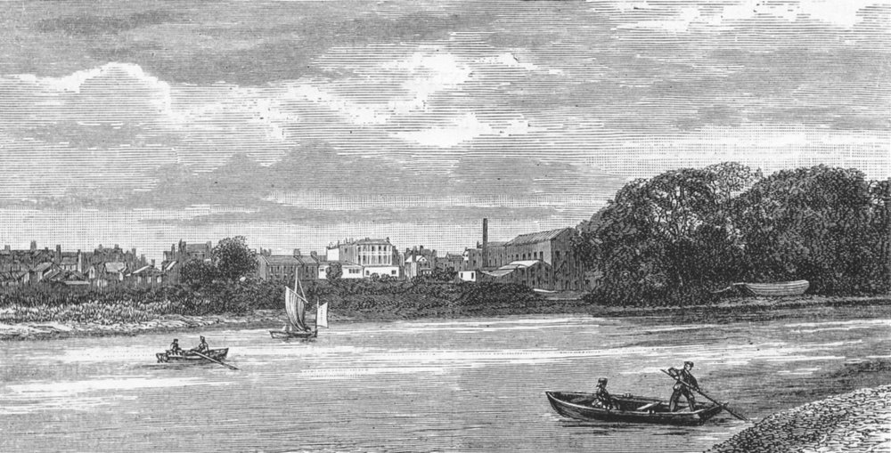 Associate Product BRENTFORD. Brentford, from the river 1888 old antique vintage print picture