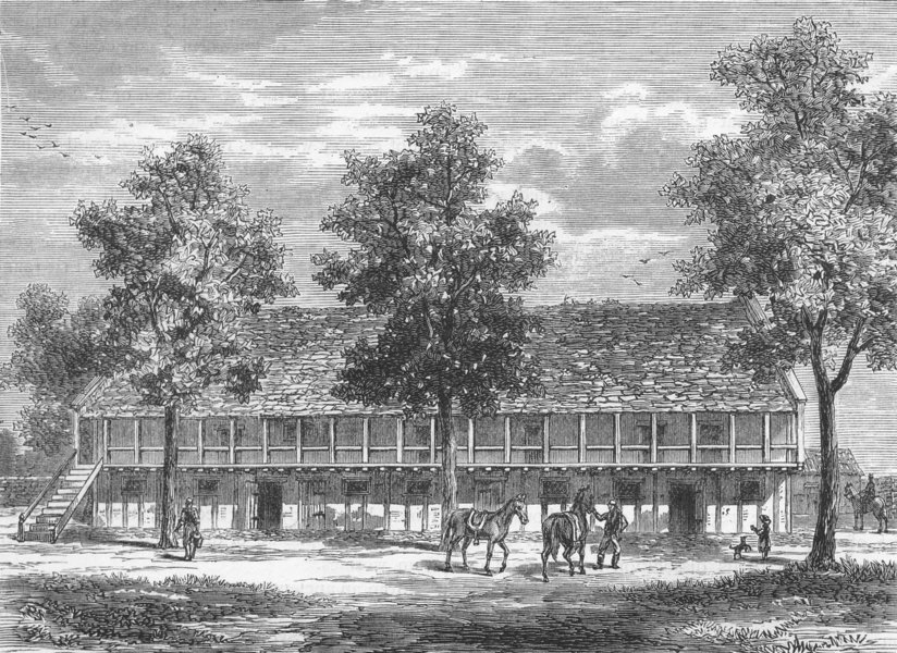Associate Product SYON HOUSE. The Old Stables at Syon House 1888 antique print picture