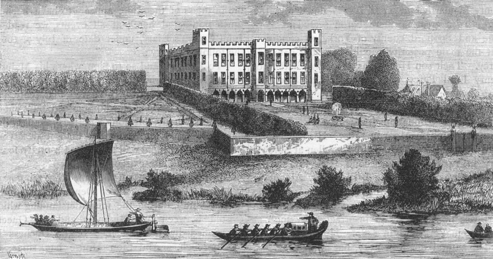 Associate Product ISLEWORTH. Syon Abbey from the South-West. From a 1737 Buck print 1888