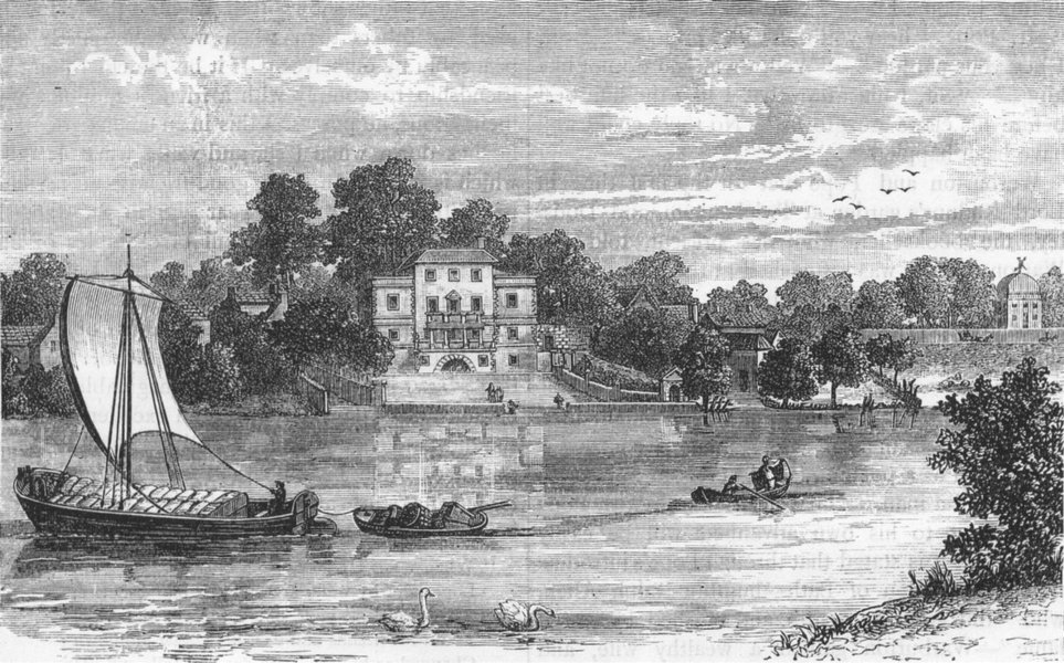 TWICKENHAM. Pope's House (from a print dated 1785) 1888 old antique