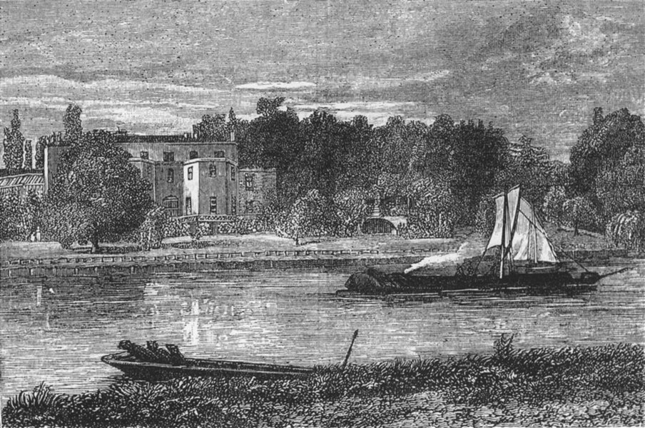 Associate Product TWICKENHAM. Lady Howe's Villa & Pope's Grotto. From an 1882 drawing 1888 print
