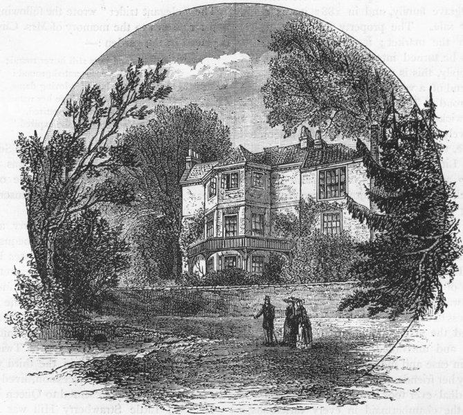 TWICKENHAM. Little Strawberry Hill in 1813 (from a contemporary sketch) 1888